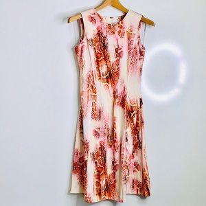 CALVIN KLEIN • Snake Rose Pink Print Aline Dress